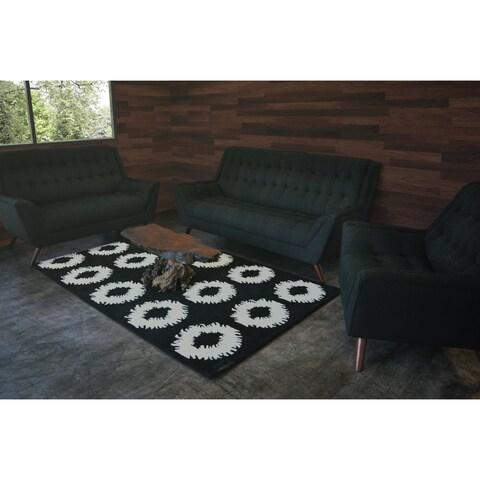 SOLIS Annata Black Deep Seated 3-piece Sofa Set