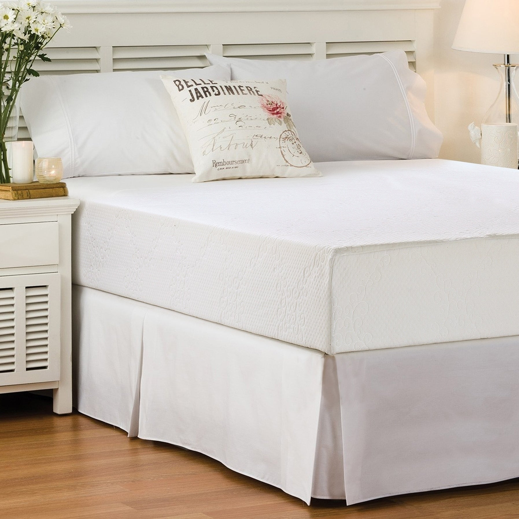 Today's Home Basic Pleated Easy-Fit Microfiber 14-inch Drop Bed Skirt - Thumbnail 0