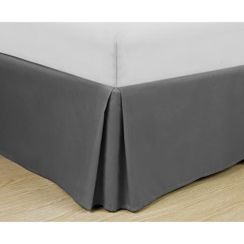 Copper Grove Tithonia Basic Pleated Microfiber 14-inch Drop Bedskirt