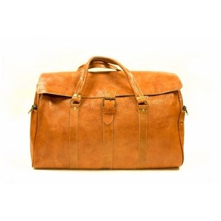 Ourzazate large carry on duffel travel hand bag weekender & Free 1 bottle leather deodorizer