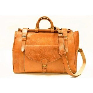 Fez small carry on duffel travel hand bag weekender & Free 1 bottle leather deodorizer