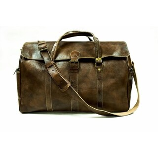 Marrakech large carry on duffel travel hand bag weekender & Free 1 bottle leather deodorizer