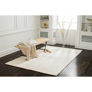 Jani Eya Jute Blend Off White Area Rug - 8' x 10'