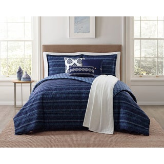 Jennifer Adams Penbrook Stripe 7 Piece Comforter Sets with Plush Throw
