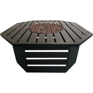 Roscoe Black Steel Gas Fire Table