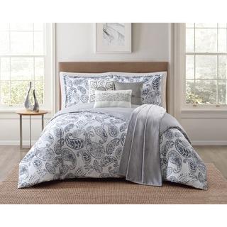 Jennifer Adams Brooktree Paisley 7 Piece Comforter Sets with Plush Throw