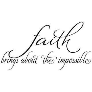 Faith Brings About The Impossible Wall Decal Quote Words Lettering Decor Sticker Wall Vinyl