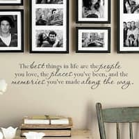 The Best Things In Life Wall Art Decal Quote Words Lettering Decor DIY Sticker Wally Vinyl