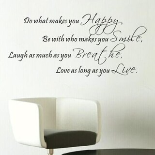 Do What Makes You Happy Home Wall Decal Vinyl Words Lettering Quote Inspiration Wall Vinyl