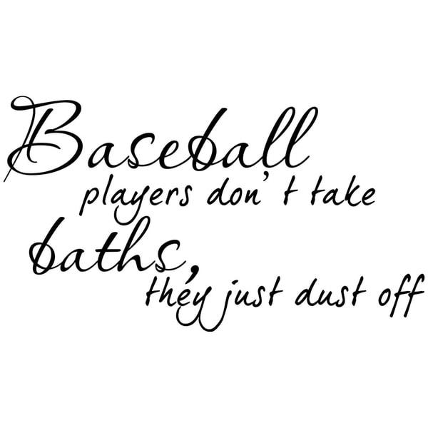 Shop Baseball Players Bath Sports Decor vinyl wall decal quote ...