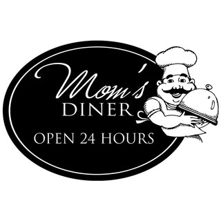 Mom's Diner Open 24 Kitchen Decor vinyl wall decal quote sticker Inspiration 15 x 10 Wall Vinyl
