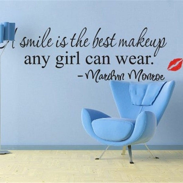 Shop A Smile Is The Best Makeup Quote Removable Home Wall Decal