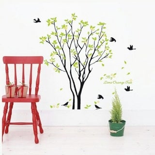 Birds Sing On the Tree Wall Decals Sticker Art Removable Home Room DIY Wall Vinyl