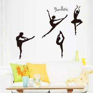 Removable Art Wall Sticker Four Girls Dancing Ballet Girl Home DIY Decor Wall Vinyl