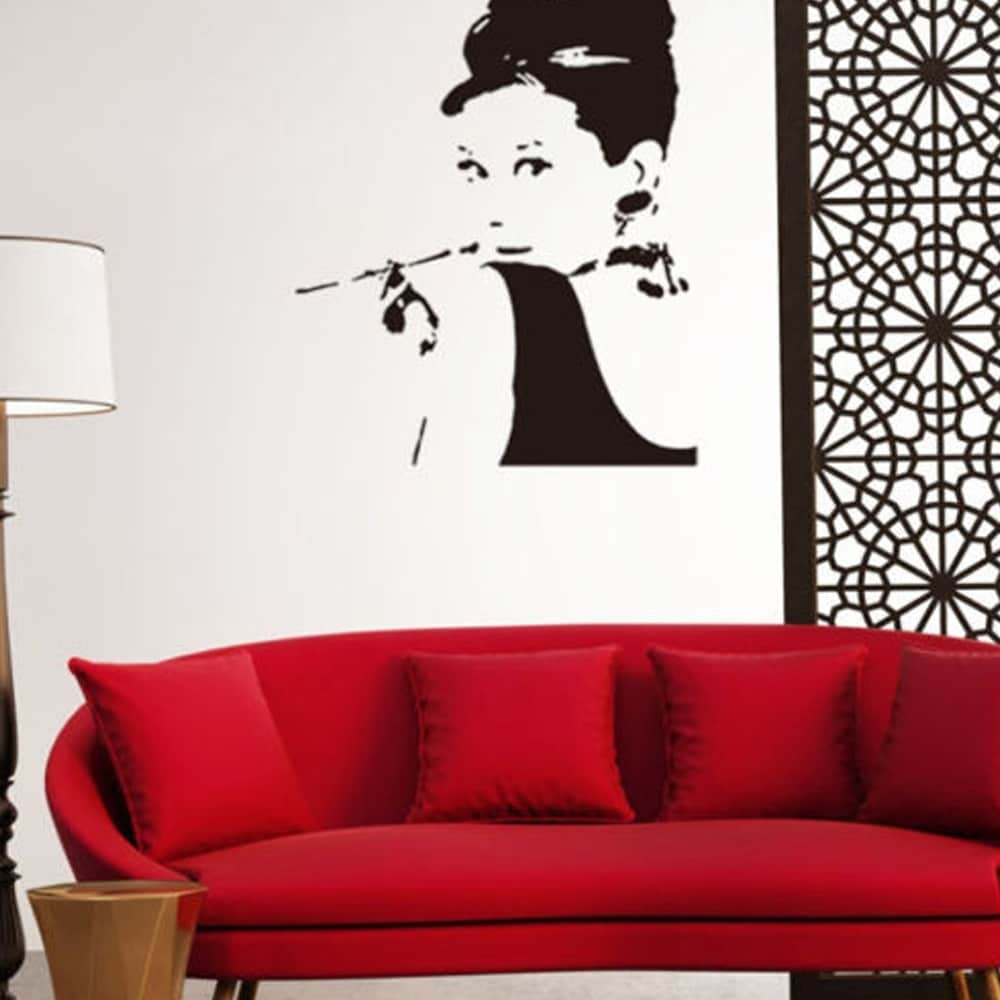 Removable Wall Decal Home Decor Audrey Hepburn Stickers Mural Vinyl
