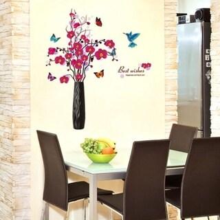 Butterfly Flower Rattan Removable Vinyl Decal Wall Sticker Wall Vinyl