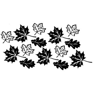 """Fall Leaves Wall Vinyl 5 leaves 5""""x4"""" 5 leaves 3""""x2.7"""" and 4 leaves 3.5""""x2.3"""""""