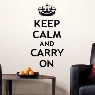 Keep Calm and Carry On Peel and Stick Wall Decals, 12 Count Wall Vinyl