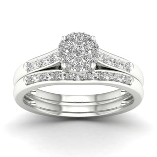 De Couer 1/5ct TDW Diamond Engagement Ring - White