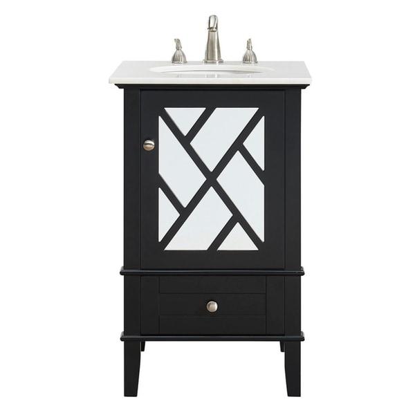 21 in.Single Bathroom Vanity set in Black