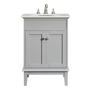 24 in. Single Bathroom Vanity set in Grey