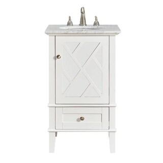 white 21inch single bathroom vanity set