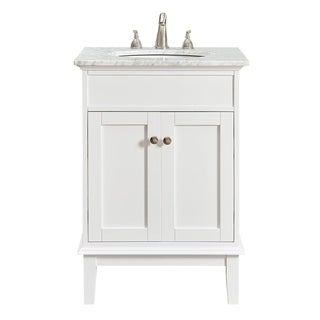 24 in. Single Bathroom Vanity set in White