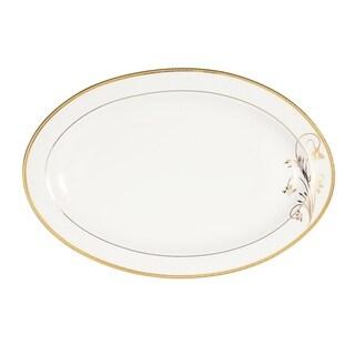 "Serving Platter 14"" Bone China Rosalia"