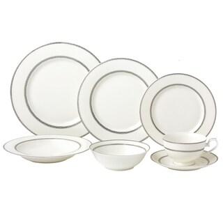 28 Piece Dinnerware Set-New Bone China Service for 4 People-Arianna