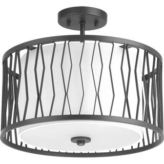 Wemberly Collection Three-Light Semi-Flush Mount