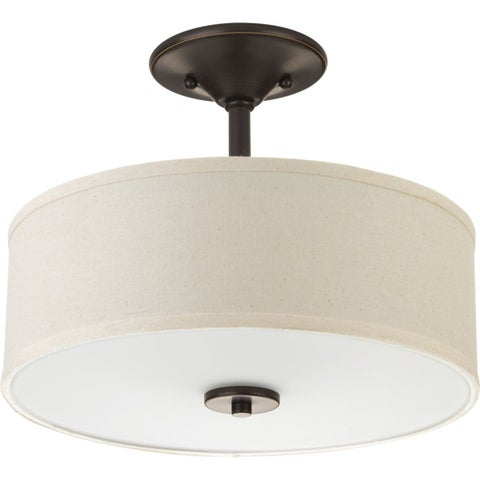 Inspire Collection Two-Light Semi-Flush Mount