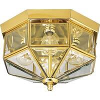 Beveled Glass Four-Light Close-to-Ceiling
