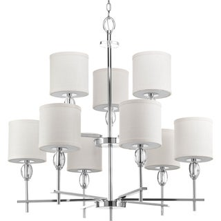 Status Collection Nine-Light, Two-Tier Chandelier
