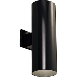 Black LED Outdoor Up/Down Wall Cylinder