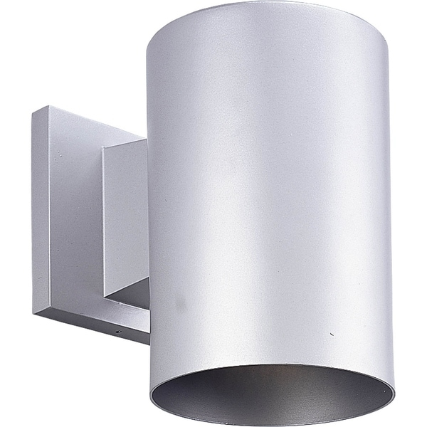 Metallic Gray LED Outdoor Wall Cylinder