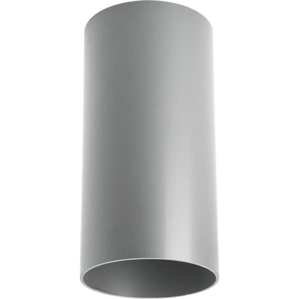 Metallic Gray LED Outdoor Flush Mount Cylinder