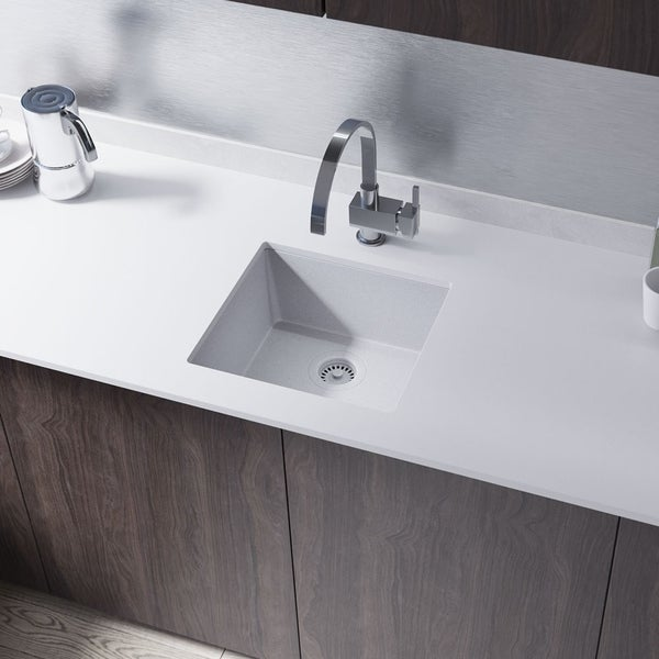 R3-1003 Single Bowl TruGranite Sink, Grid, and Matching Colored Flange