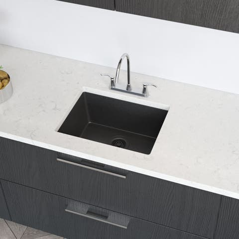 R3-1004 Single Bowl TruGranite Sink, Grid, and Matching Colored Flange