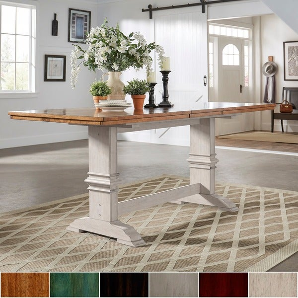 Average Kitchen Counter Height: Shop Eleanor Solid Wood Counter Height Trestle Base Dining