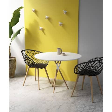 Jamesdar Blythe White/Natural Round Dining Table