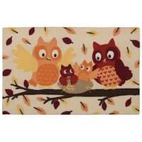 """Nourison Light Enhance """"Owls"""" Multicolor Accent Rug - 1'8 x 2'6"""