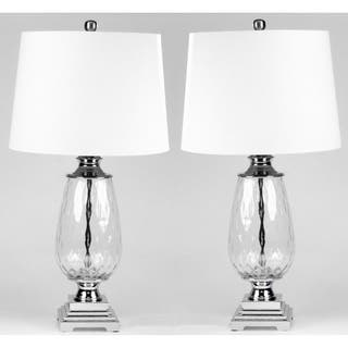 Clara set of 2 Optic clear table lamps - 27 inches heigth|https://ak1.ostkcdn.com/images/products/17999971/P24171313.jpg?impolicy=medium