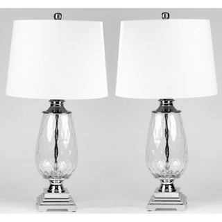 Clara set of 2 Optic clear table lamps - 27 inches heigth