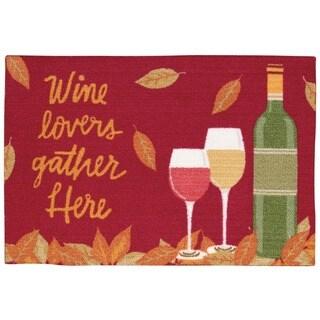 "Nourison Light Enhance ""Wine Lovers"" Multicolor Accent Rug (1'8 x 2'6)"