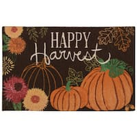 "Nourison Light Enhance ""Happy Harvest"" Orange Accent Rug (1'8 x 2'6)"
