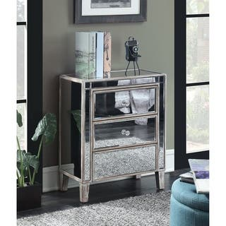living room drawers. Convenience Concepts Gold Coast 3 Drawer Mirrored End Table Drawers Living Room Furniture For Less  Overstock com