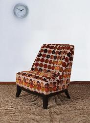 Club Chair Orange and Red Circles - Thumbnail 1