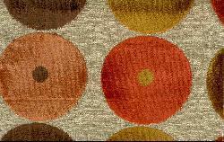 Club Chair Orange and Red Circles - Thumbnail 2