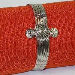 Silver 'Peace' Spiral Bracelet (Kenya)