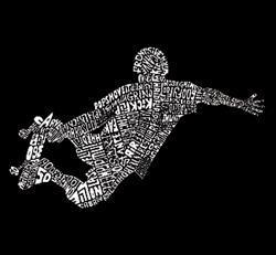 Los Angeles Pop Art 'Skater' Men's Hoodie - Thumbnail 1